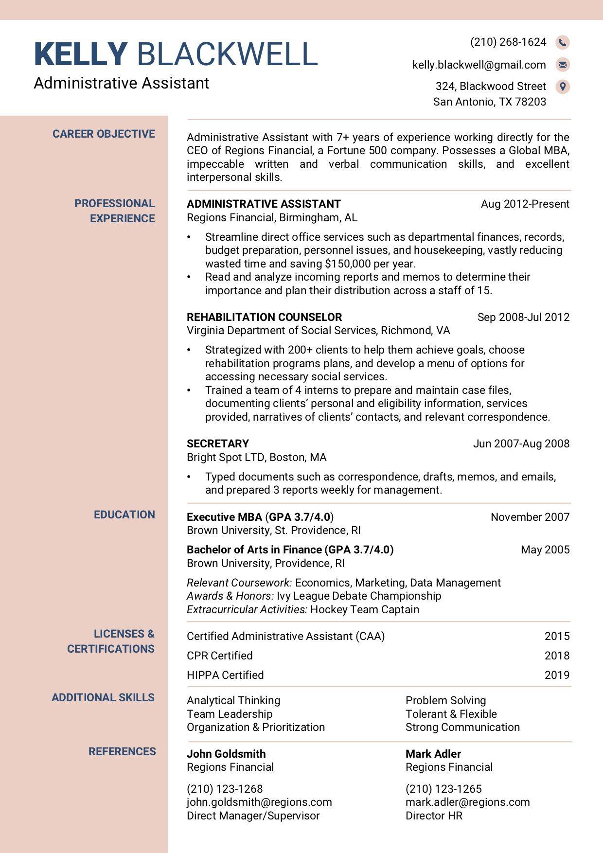 Resume Template 1c Rc Resume Template Professional Verbal Communication Skills Resume Template Free