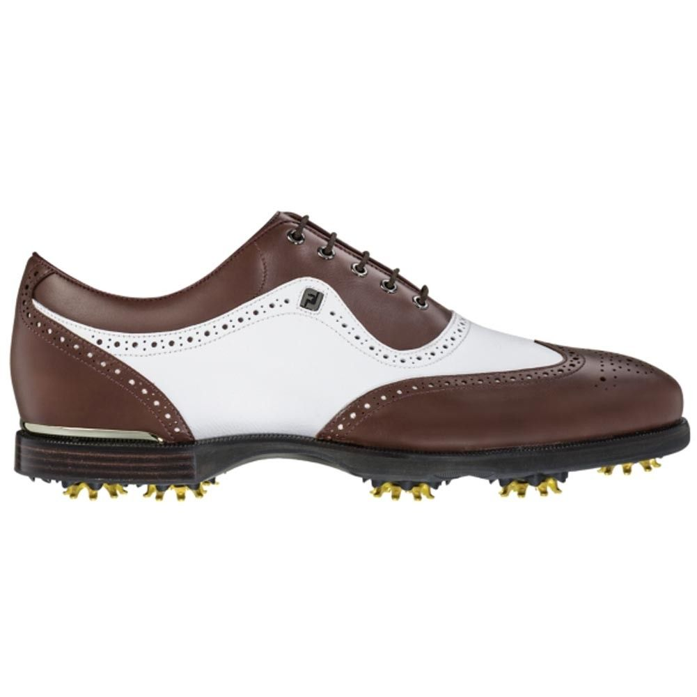 0c8d3255276b6 FootJoy Icon Black Wingtip Golf Shoes in Brown/White Was $300 Now ...