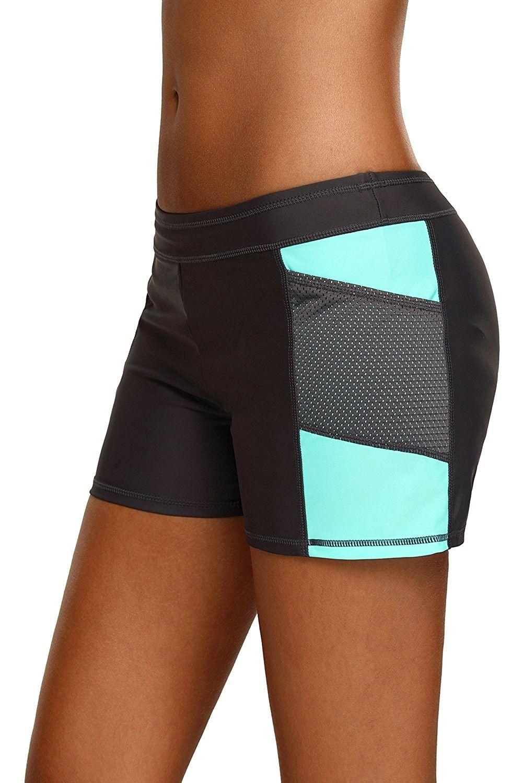 18ada52a50b Women Swim Shorts Plus Size Sports Bottom Beach Board Shorts ...