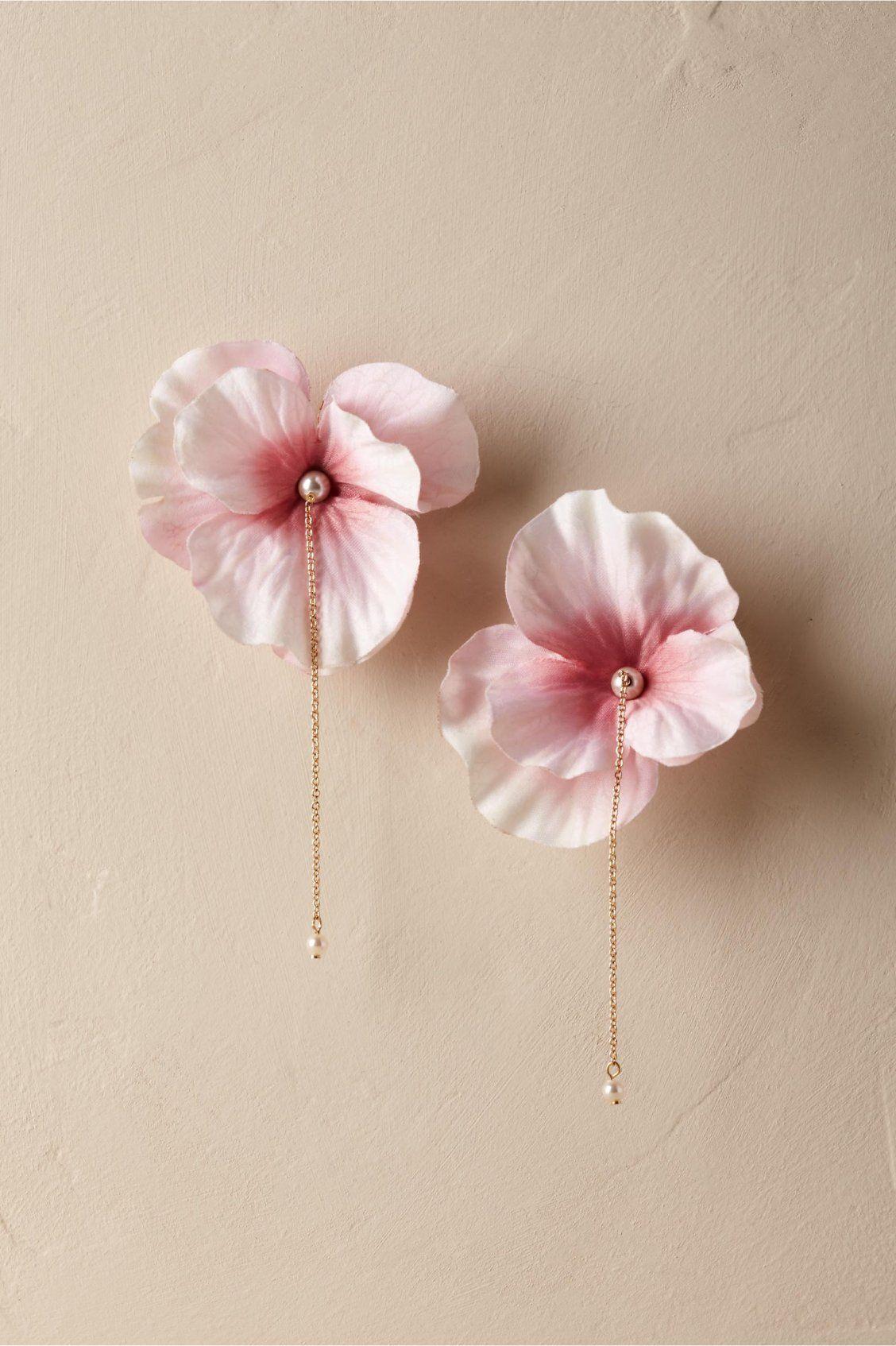Blushing Cherry Blossom Earrings From Bhldn