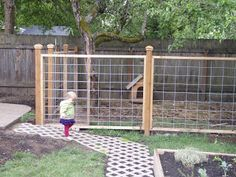 nicely finished cattle panel fencing  dog area fence