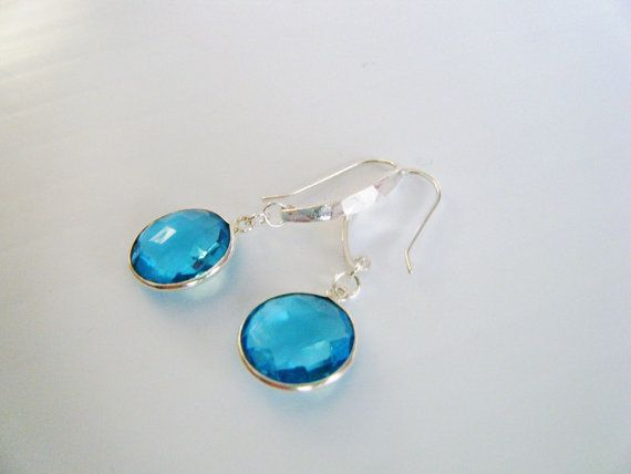 Topaz Earrings Thai Karen Hill Blue Topaz Dangle by cameebijoux, $52.28 #etsyaaa #handmade #jewelry