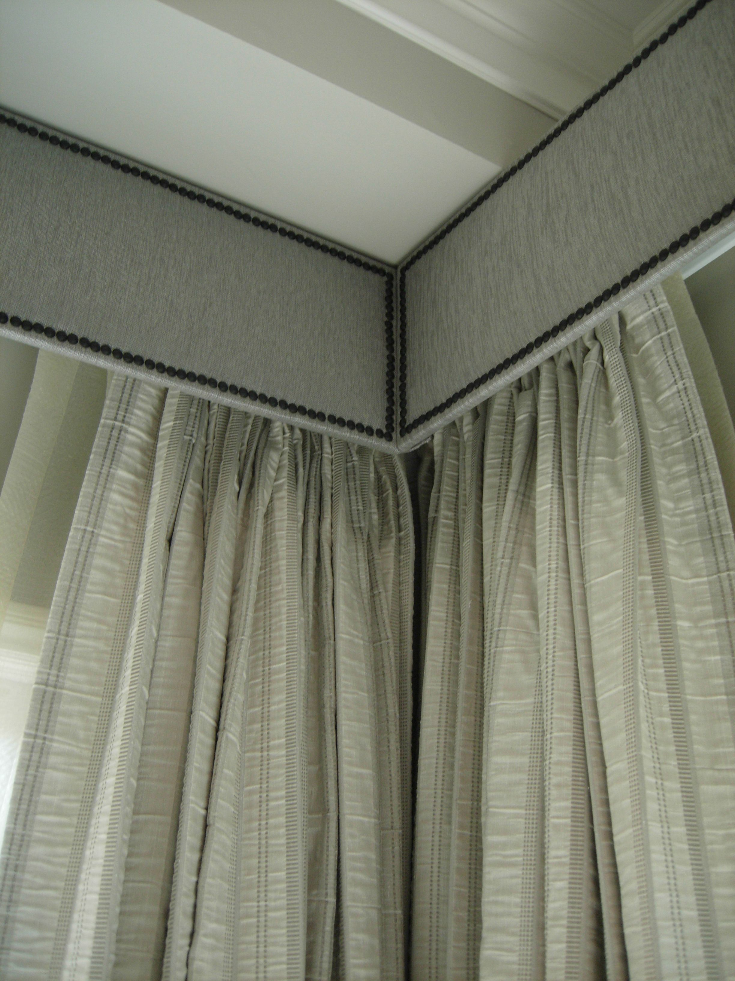 Office window coverings  large space cornice boards   home design  pinterest
