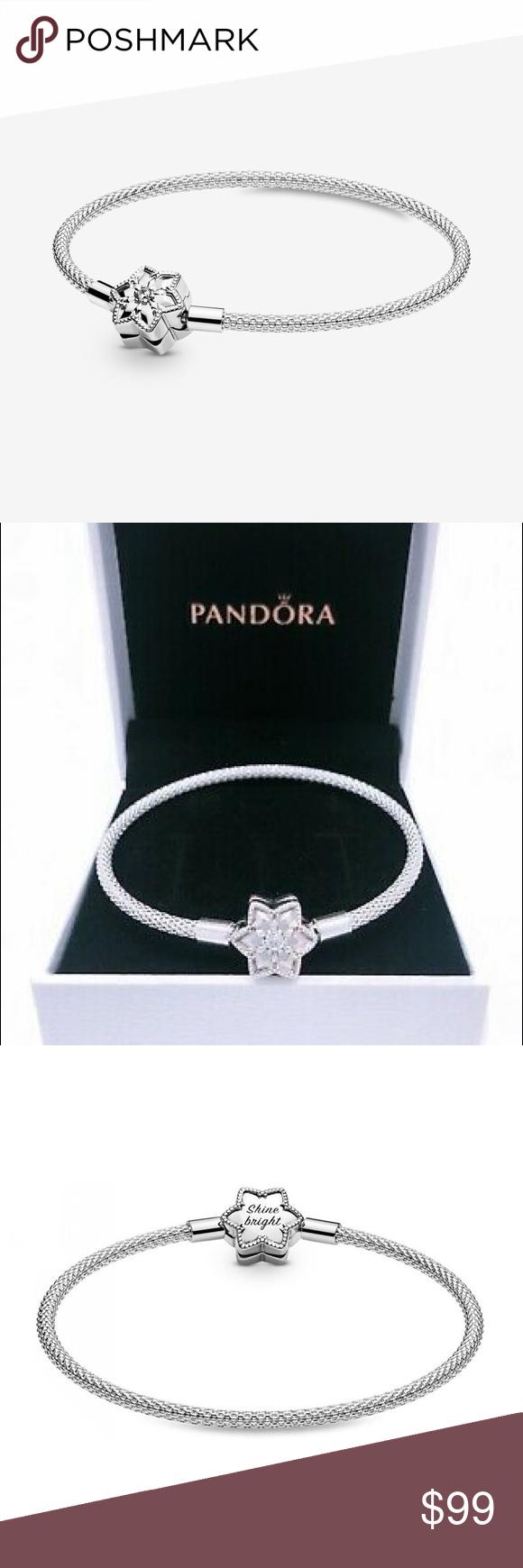 ✨ Pandora Shine Bright Silver Star Bracelet ✨   Silver star ...