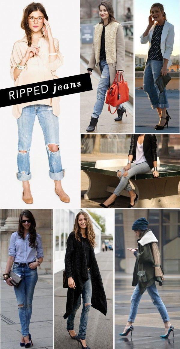 Ripped clothes as fashion: Ripped jeans
