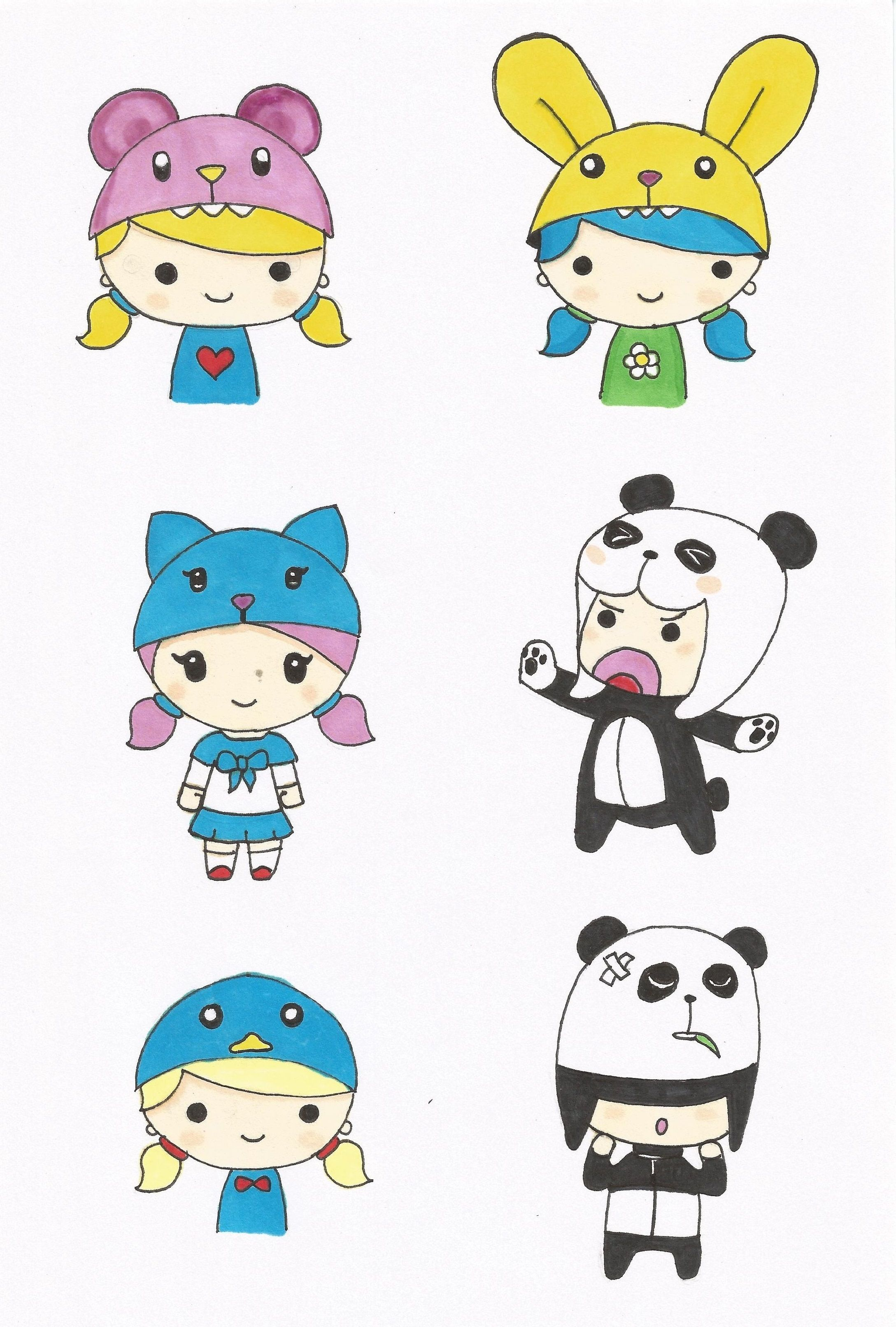 Kawaii Doodles Drawn From The Book Manga For Beginner By Christopher Hart I Used Promarkers