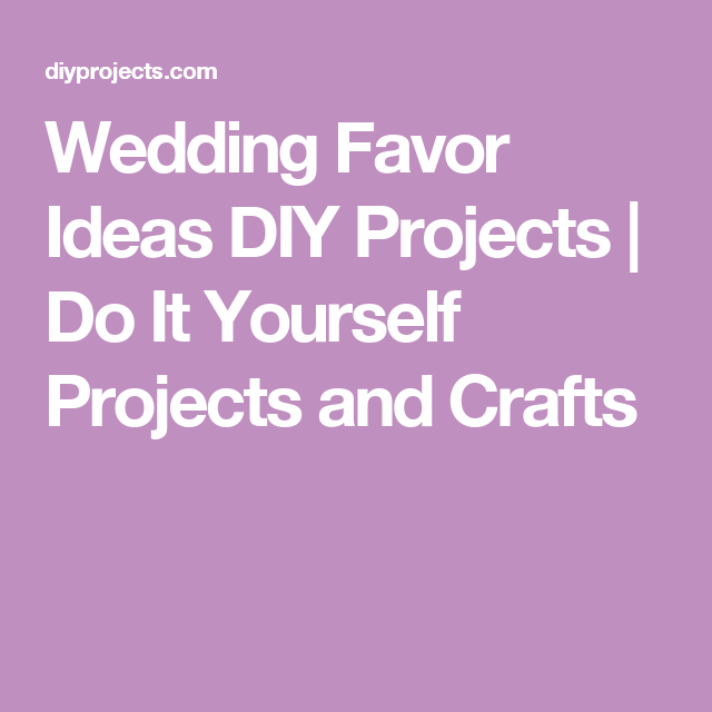 Wedding favor ideas diy projects do it yourself projects and wedding favor ideas diy projects do it yourself projects and crafts solutioingenieria Gallery