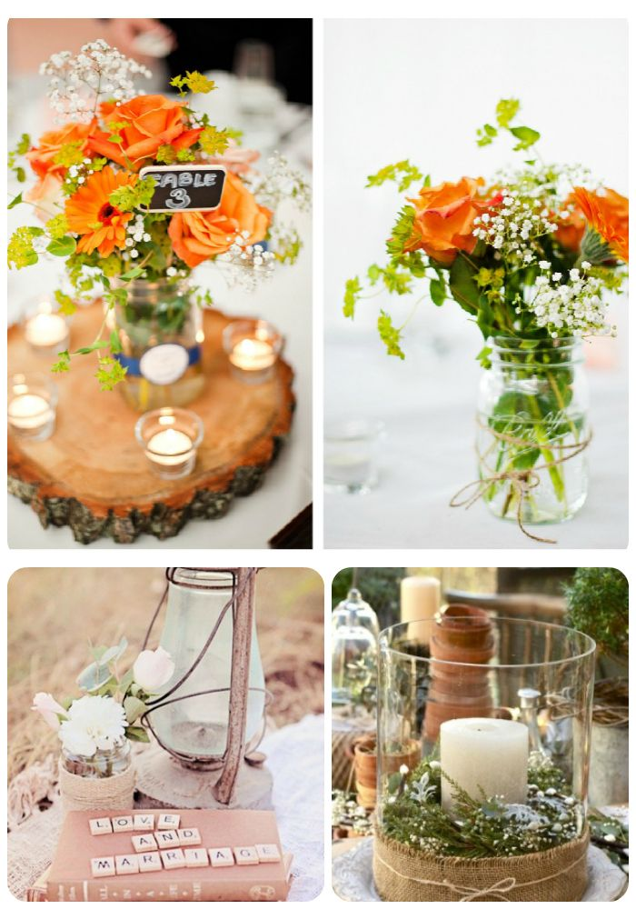 20 FABULOUS RUSTIC WEDDING CENTERPIECE IDEAS | Reception, Rustic ...