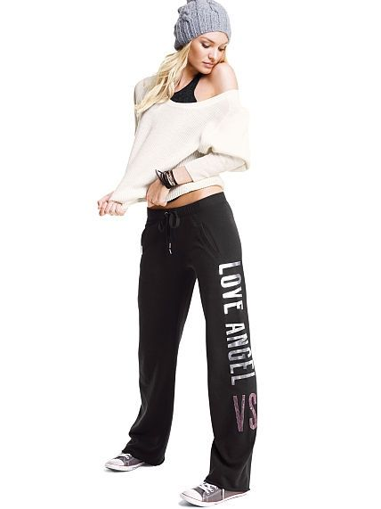 83ca64401f33f Victoria's Secret #currentlyobsessed | PINK | Boyfriend pants ...
