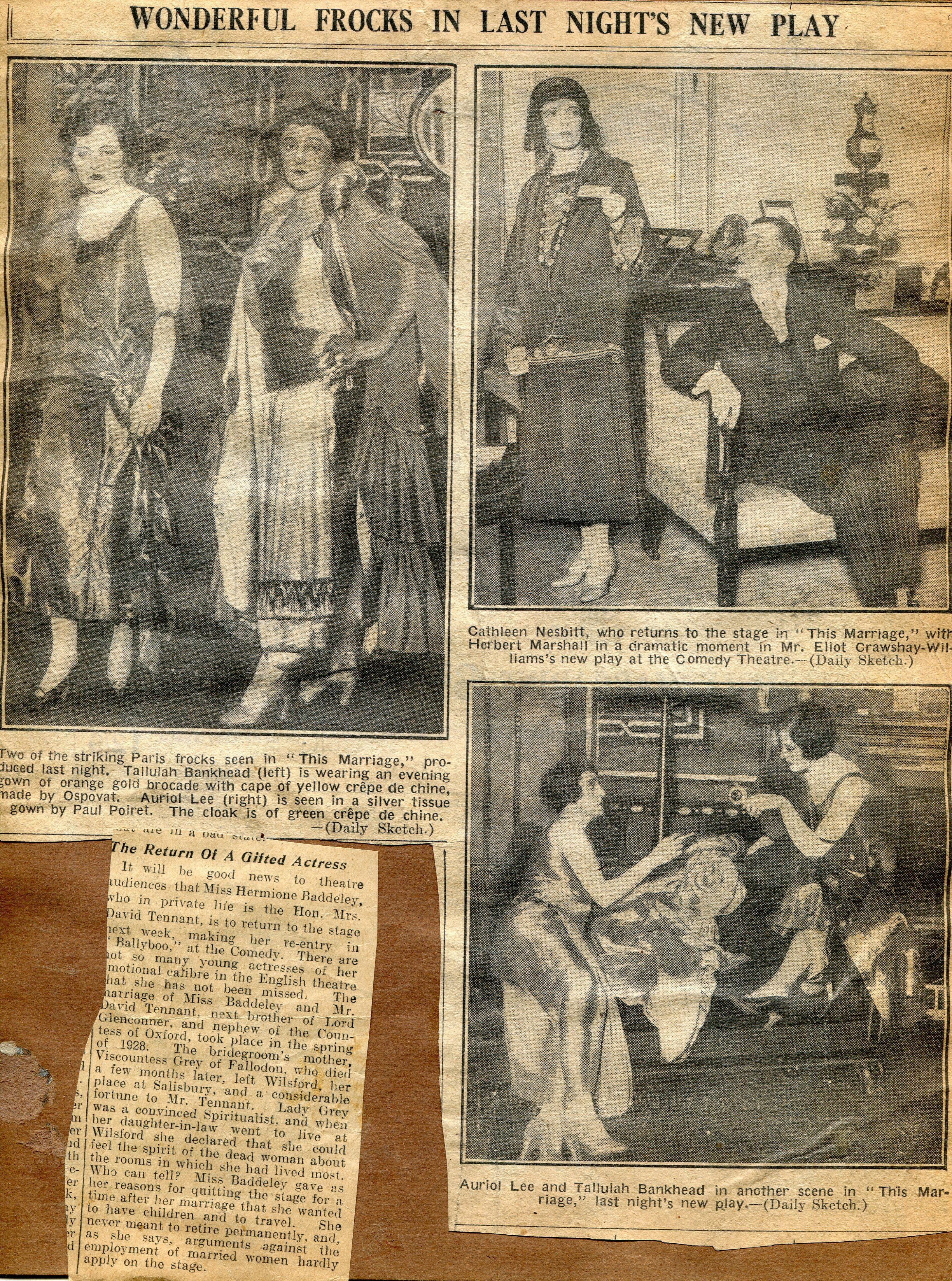 Scrapbook paper england - Page From The Scrapbook Of Christine Blackburn Elliott Wardrobe Mistress Playhouse Theatre Liverpool In The 1920 S