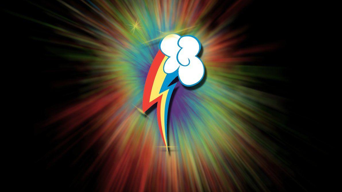 Mlp Fim Rainbow Dash Cutie Mark Wallpaper By Apoljak Deviantart