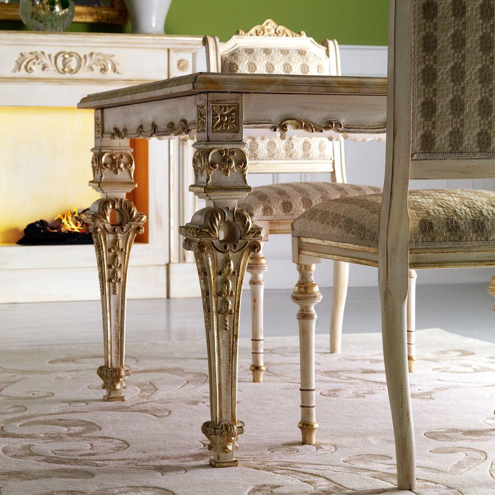 Italian Designer Louis Xiv Dining Table