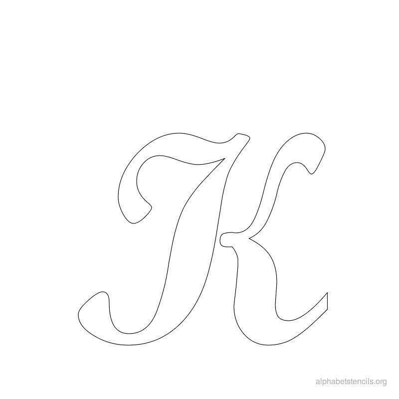 print free alphabet stencils cursive k stencils