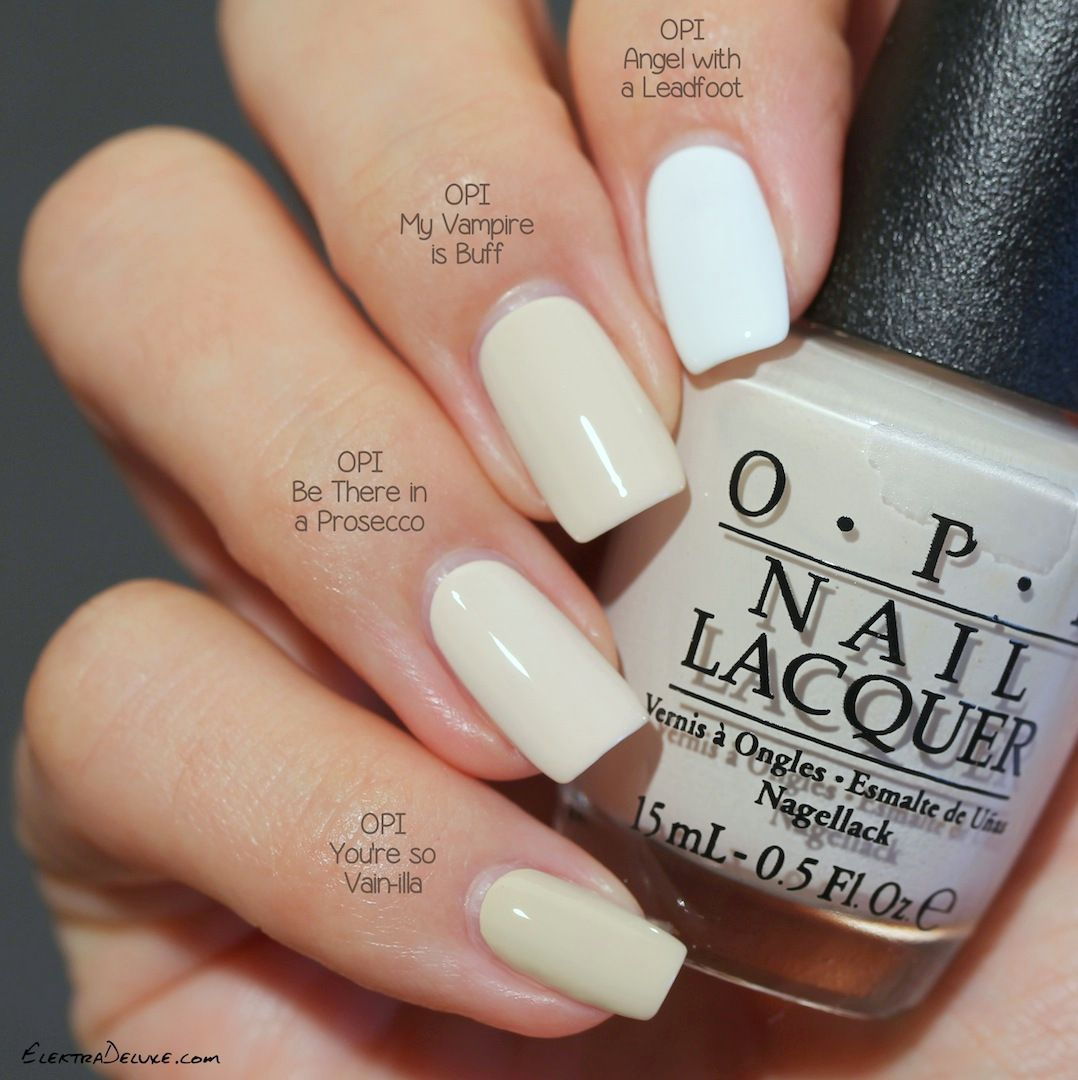 OPI Be There in a Prosecco (Venice Fall 2015) vs OPI My Vampire is ...