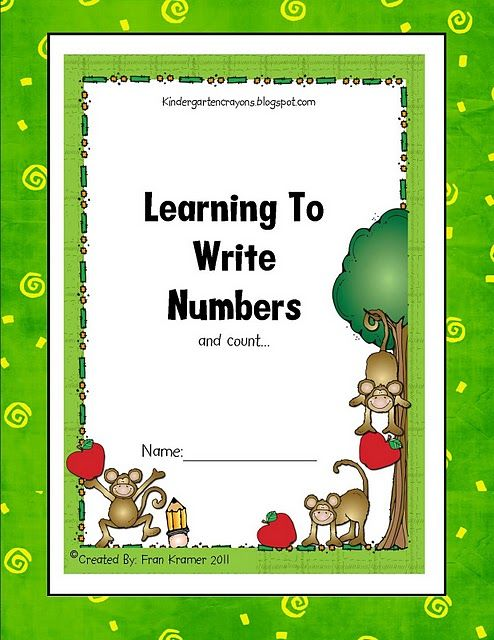 nice printables for number writing