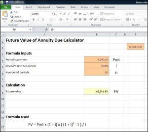 Future Value Of Annuity Due Calculator Annuity Calculator