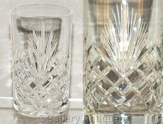 VINTAGE ELEGANT TALL Clear Crystal Cut