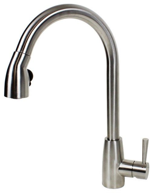 Lead Pull Sprayer Kitchen Faucet Contemporary Kitchen Faucets