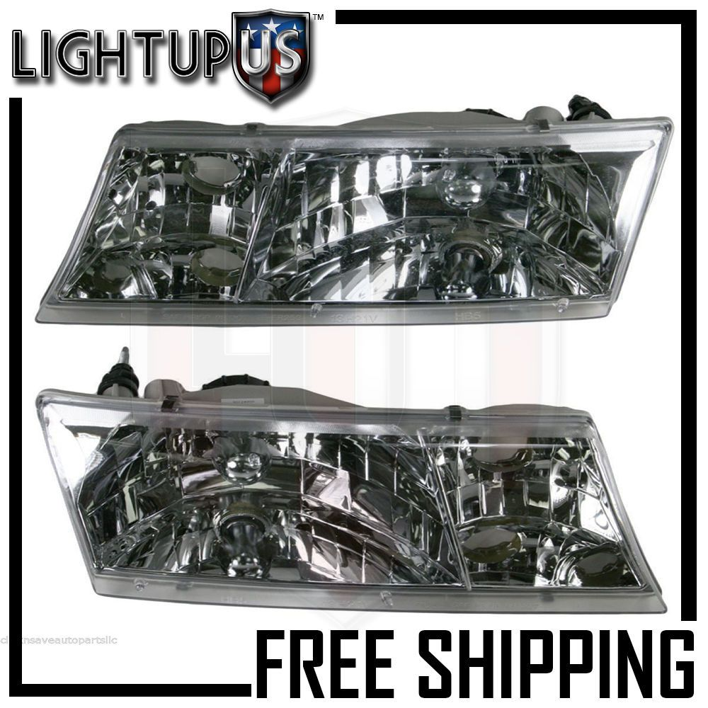 Headlights Headlamps Pair Left Right Set For 98 02 Mercury Grand Marquis