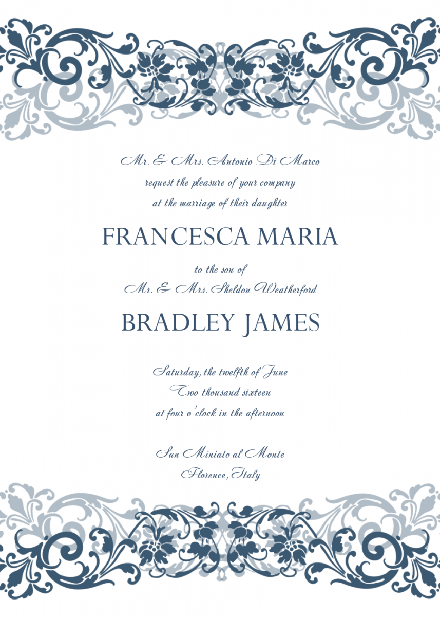 16 Invitations Free Templates For Word | Ziel Templates | Wedding ...