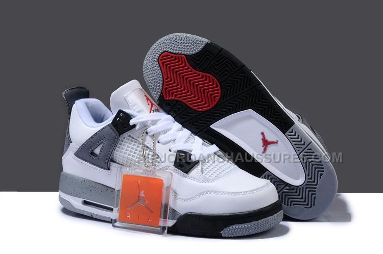 Big Discount Nike Jordan 4 Cheap sale Grey Orange