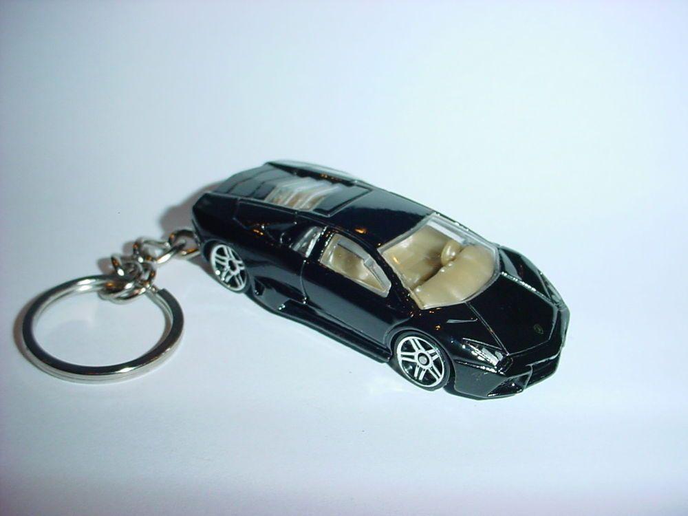 3d Black Lamborghini Gallardo Custom Keychain Key Chain Keyring