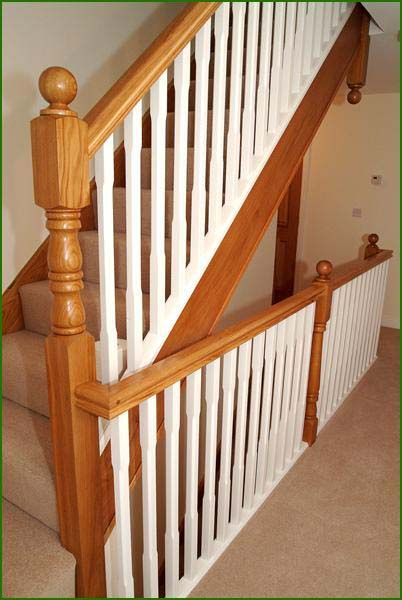 Oak And White Spindle Staircase Oak Stairs Interior | White Oak Stair Railing