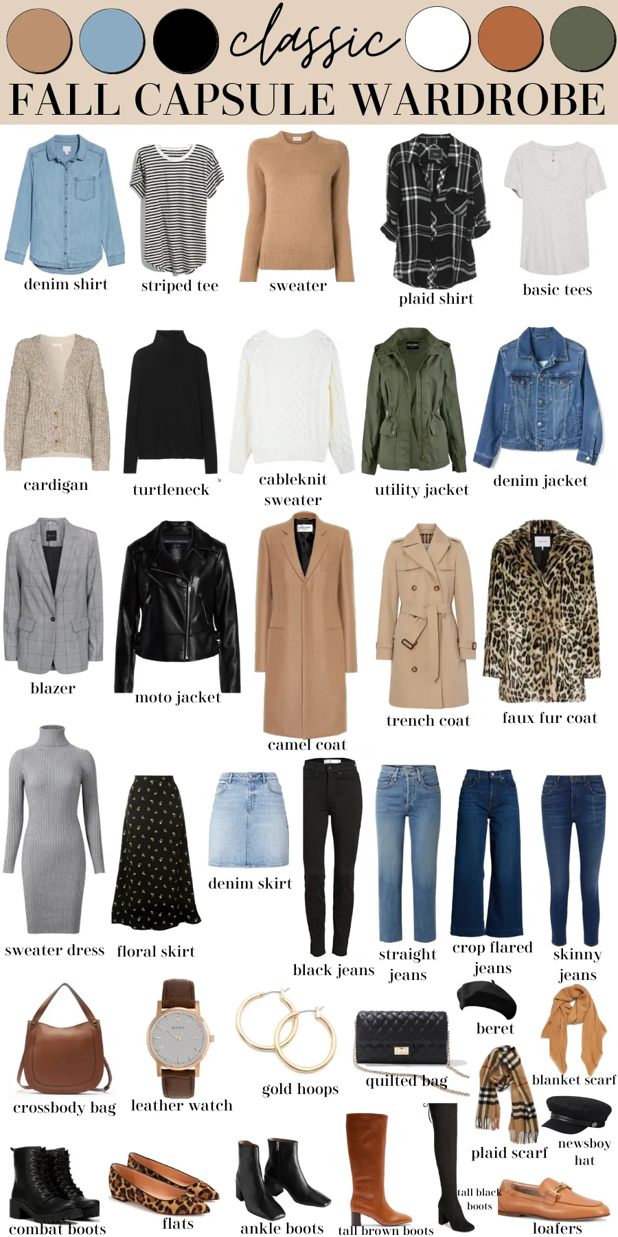 Classic Fall Capsule Wardrobe (Shopping List, Outfit Ideas, & More!) – MY CHIC OBSESSION