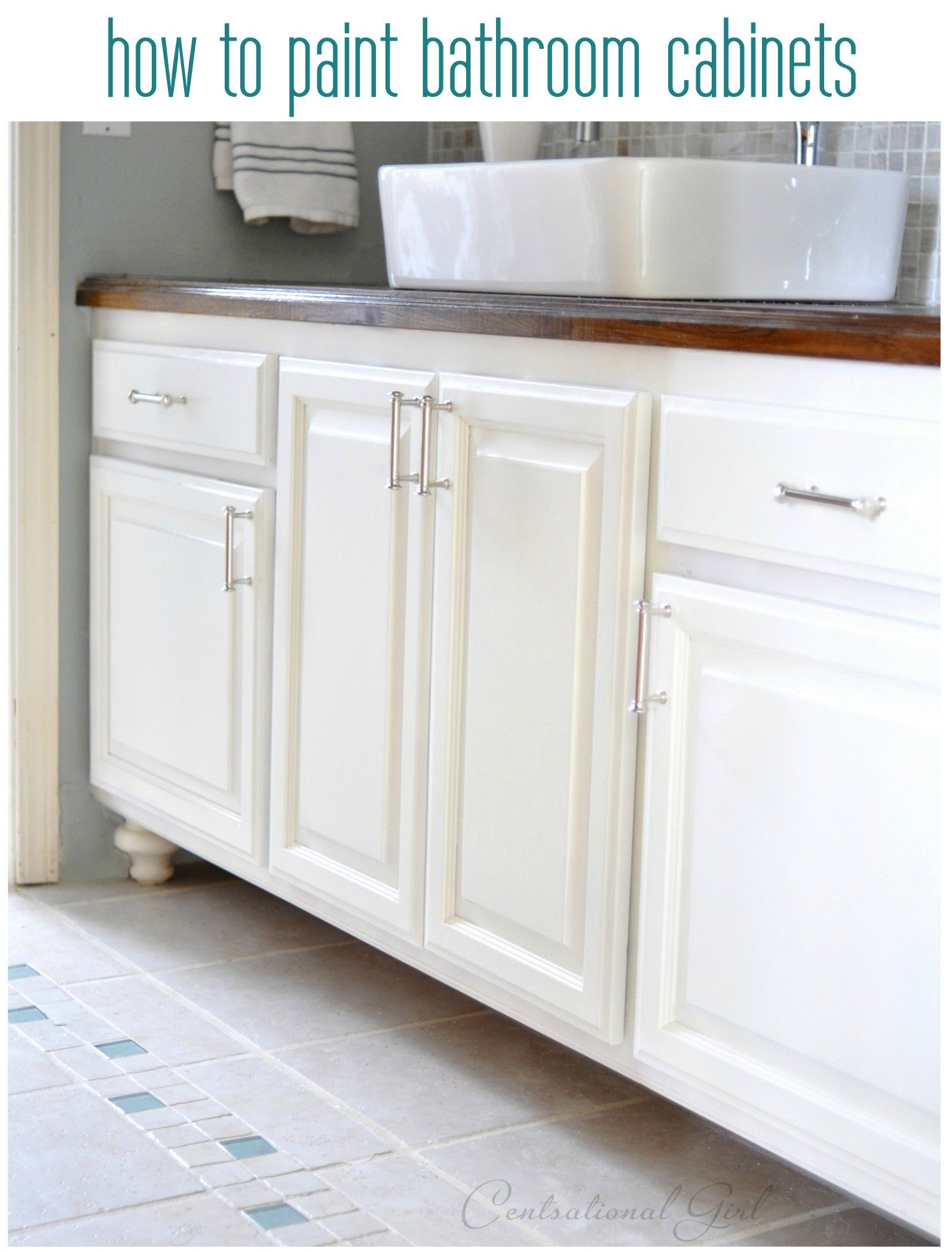 how to paint bathroom cabinets, other bathroom remodeling tips from ...