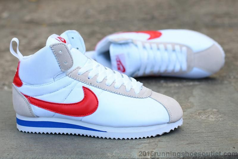 41fb77a52265 Authentic Nike 2016 New Arrival Classic Cortez High Tops Mens Sneakers  White Red Blue