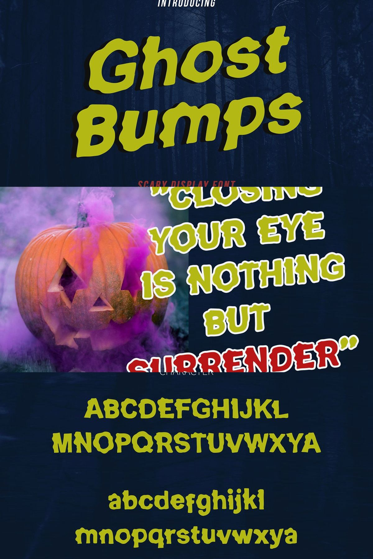 GhostBumps - Scary Display Font RG