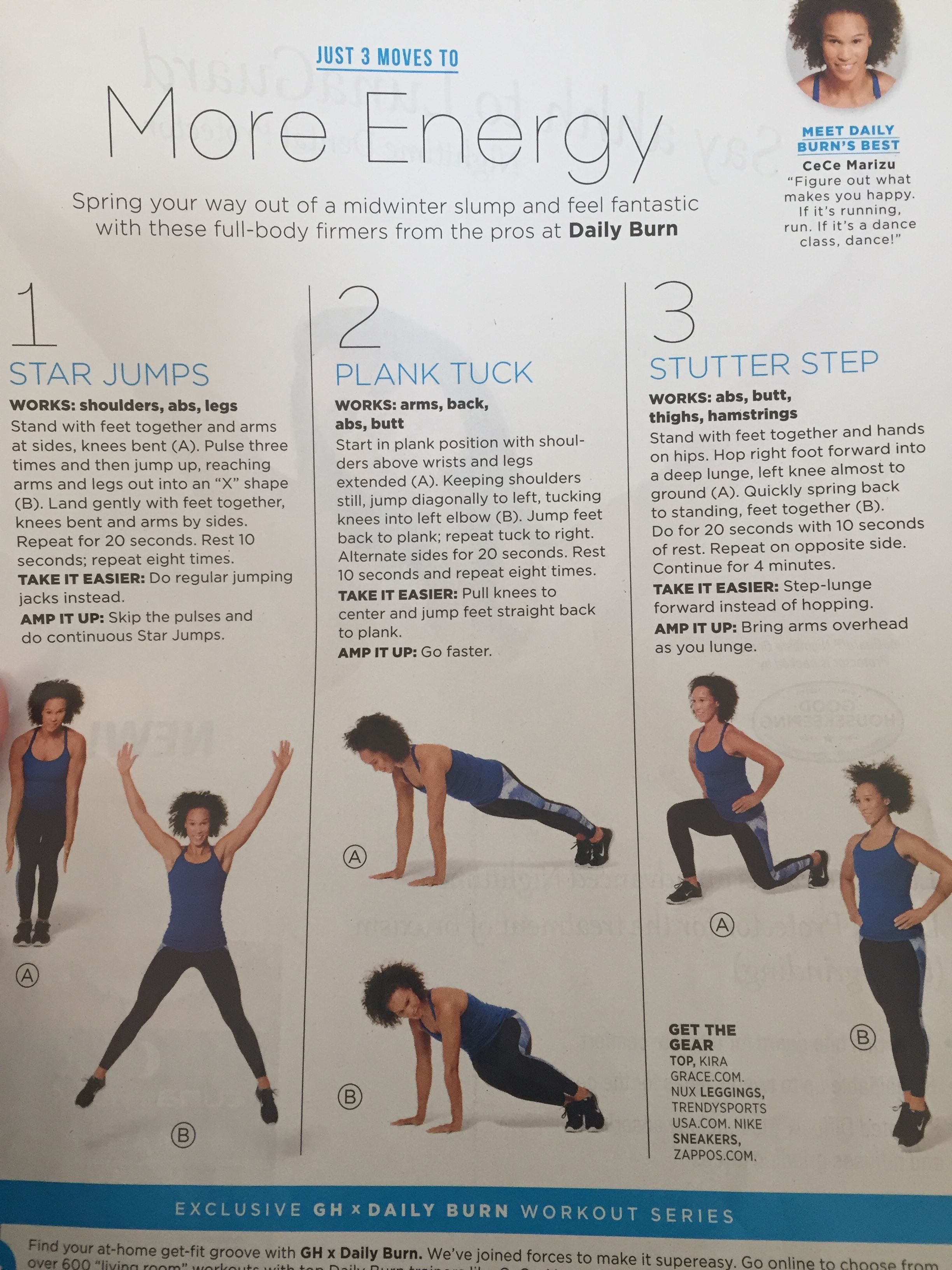 Good housekeeping more energy exercises