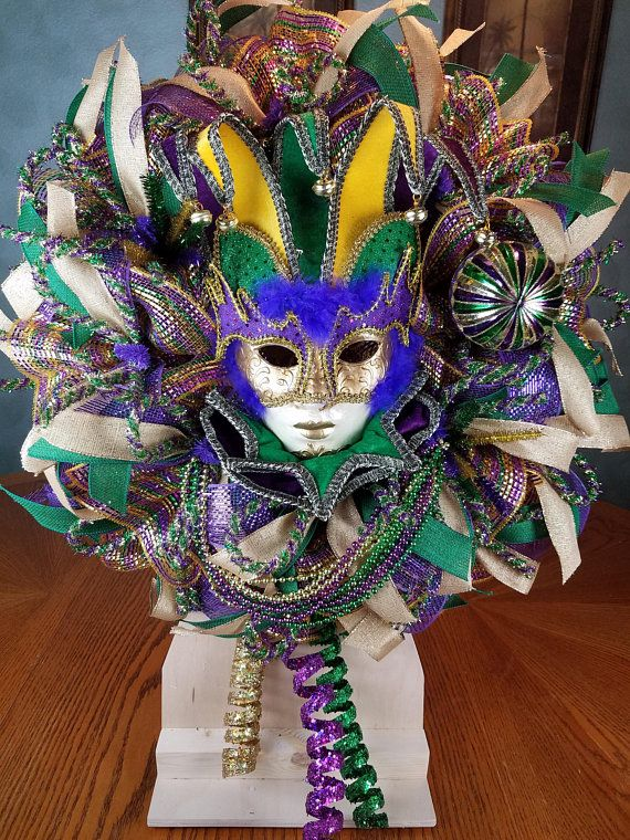 Mardi Gras Wreath, Mardi Gras, Front Door Wreath, Mardi Gras Decor ...