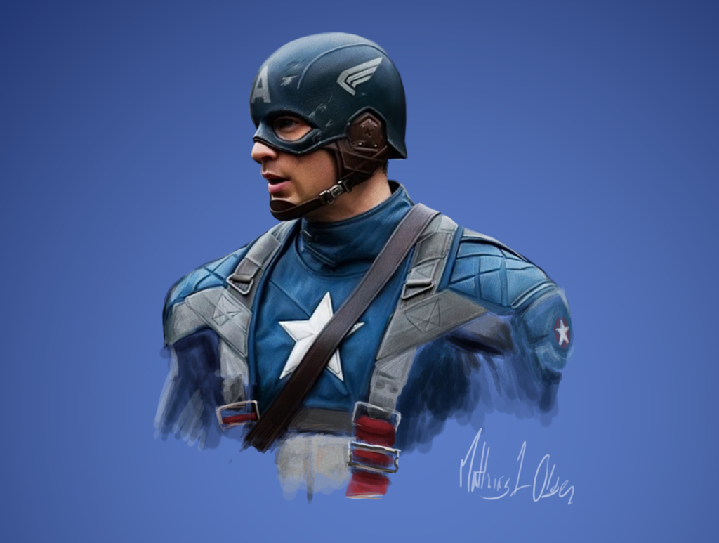 Captain America Digi Painting By Lasse17 On Deviantart Captain America Team Captain America Chris Evans Captain America