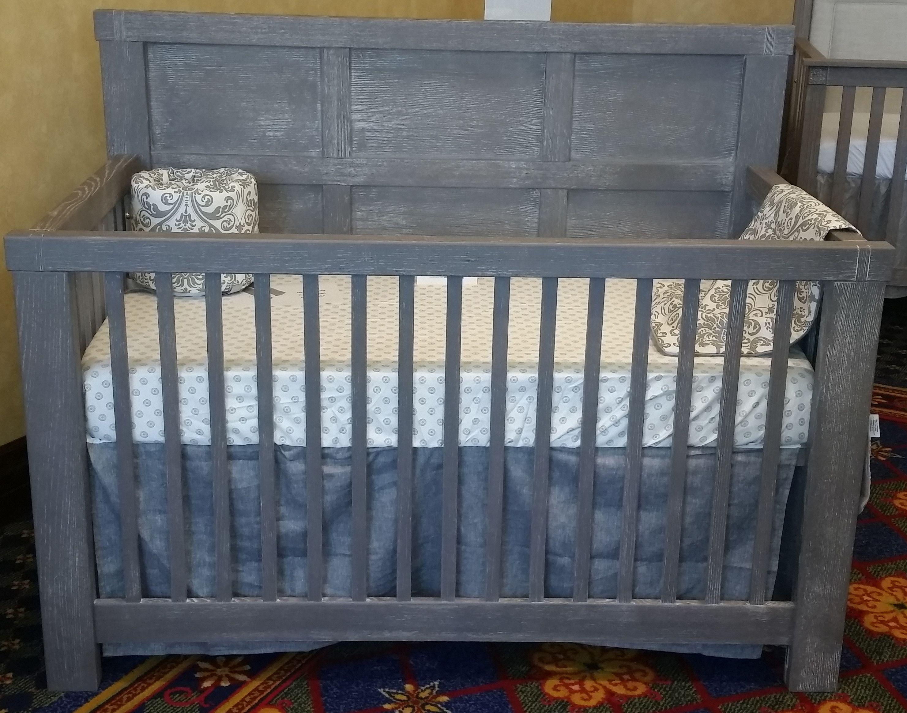Grey Wood Crib