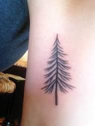 image result for simple evergreen tree tattoo evergreen