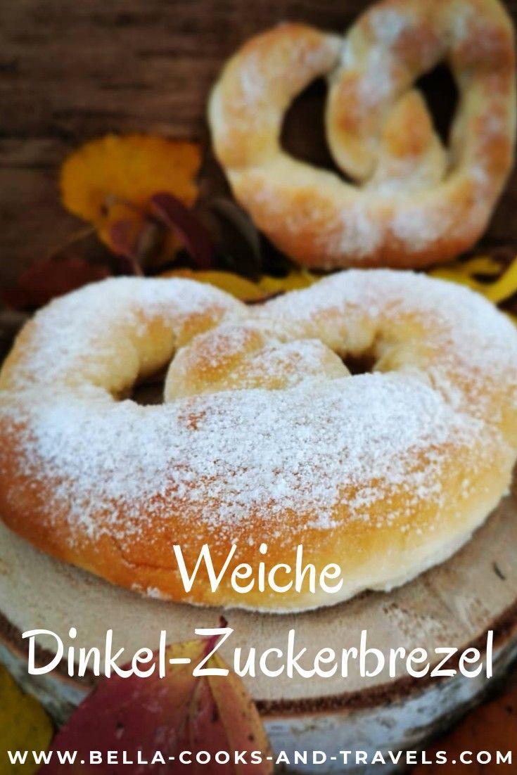 Rezept für weiche Zuckerbrezel aus Dinkelmehl #martinsbrezel #hefegebäck #dinkel #rezept