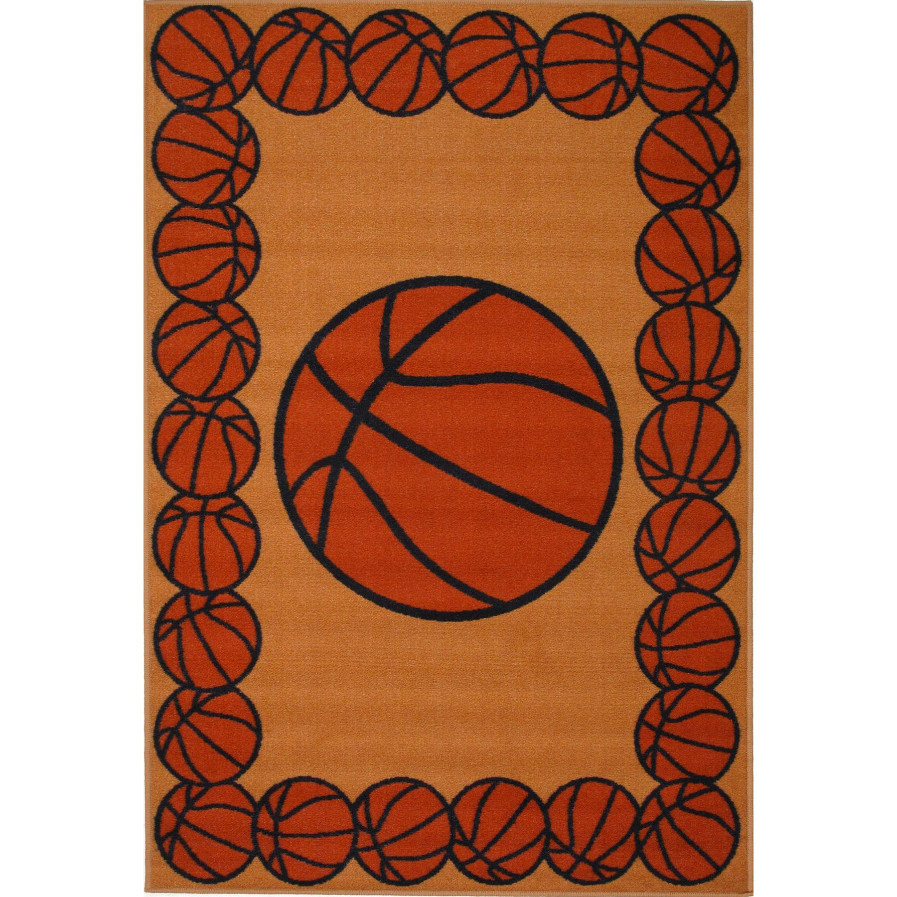 Basketball Time Accent Rug