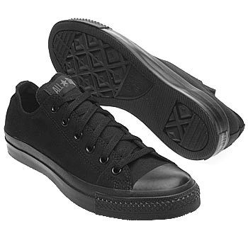 all black converse low womens