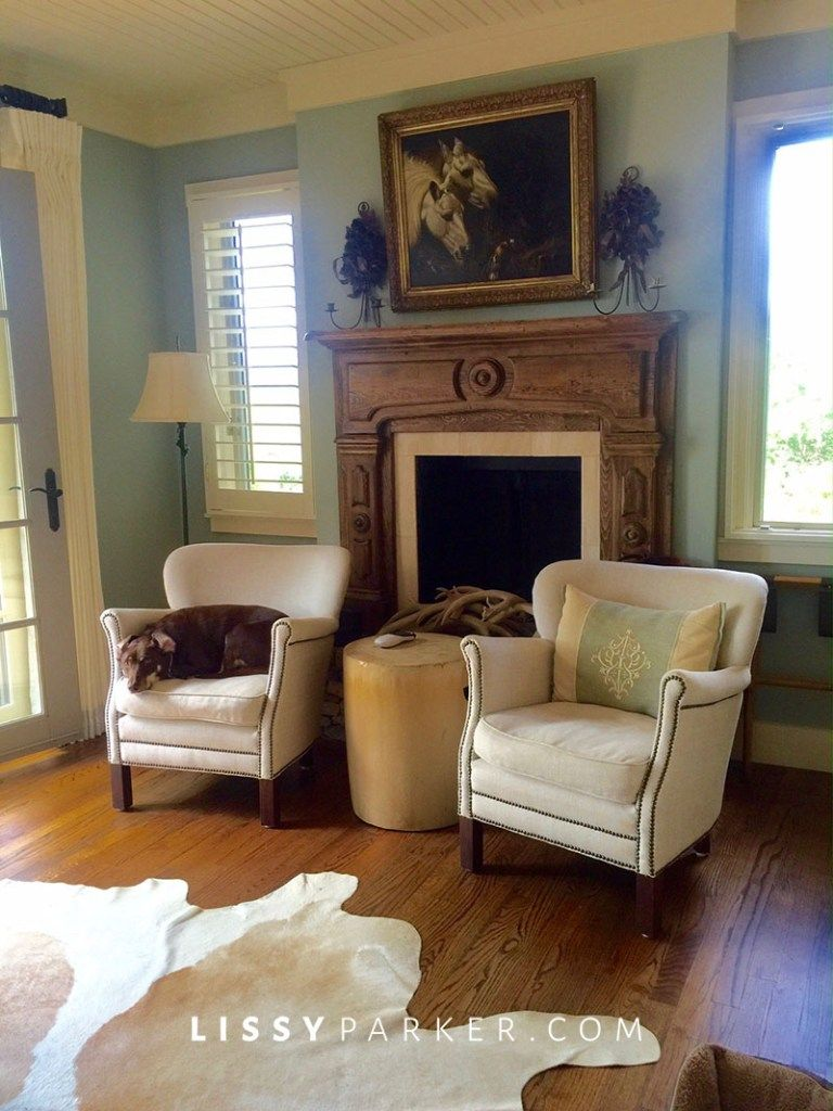 Two Chairs In Front Of The Fireplace House Design Home Home Decor