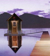 Tiny house on the water.