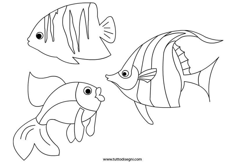 pesci da stampare e colorare diseggi