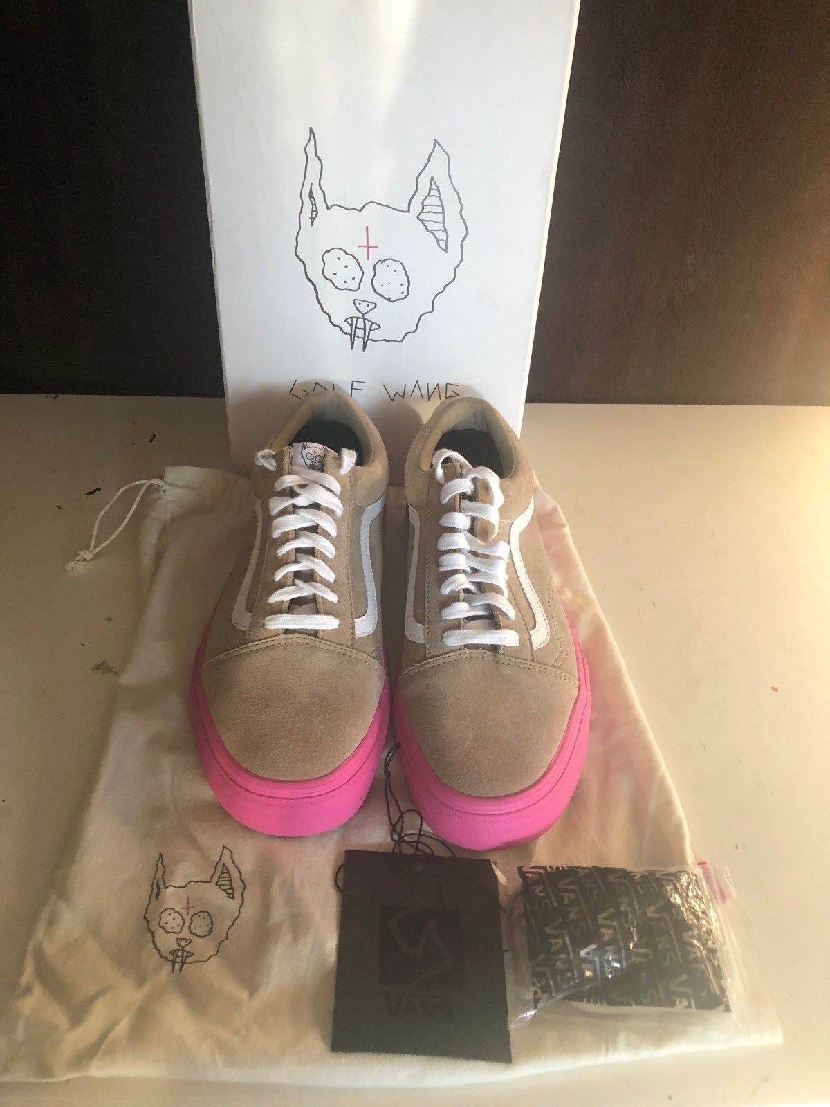 b7a9ec4bc9865c Vans Old Skool Pro X Golf Wang Syndicate Size 11.5 Tyler The Creator Brown  Pink