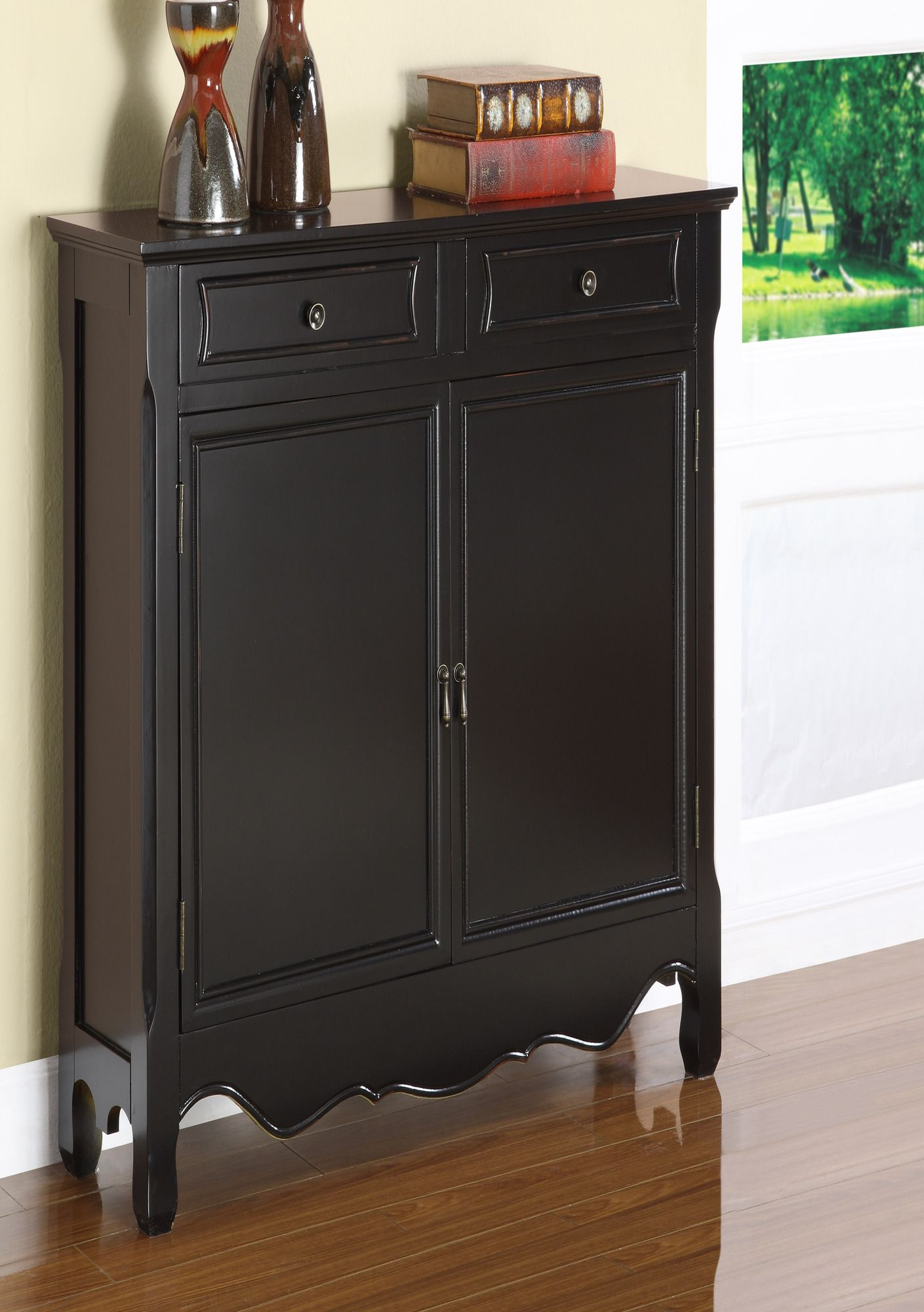 Merveilleux Powell Two Door Console In Black