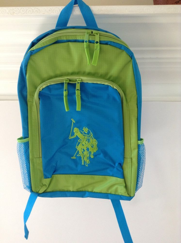 U S Polo Assn Travel Bag Sport Green Blue Backpack Nwt Blue Backpack Backpacks Bags