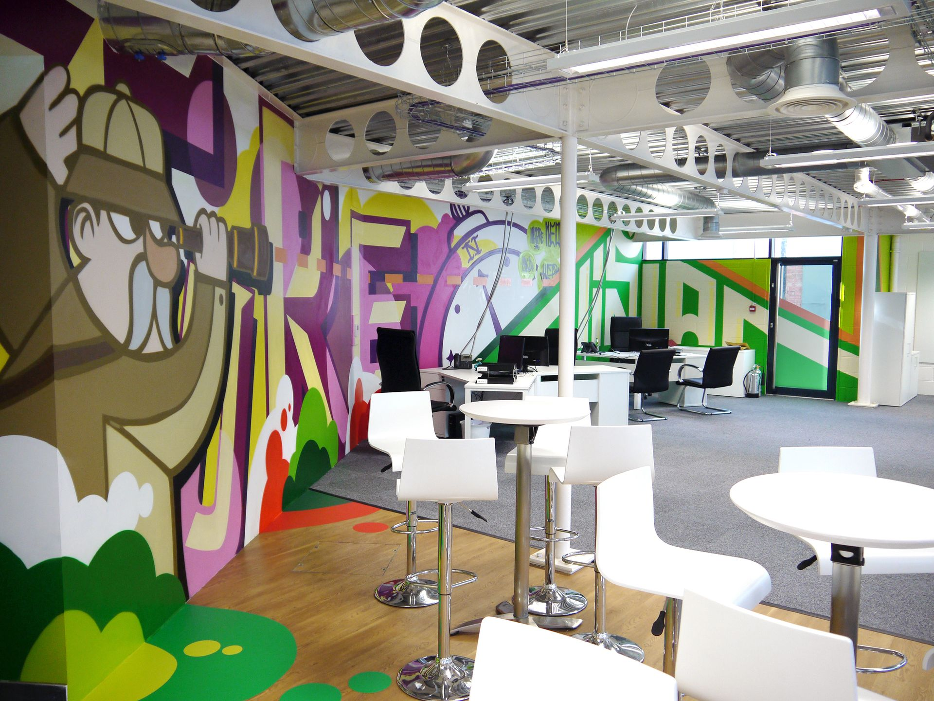 Hand Painted Mural For London Design Agency Office Art Interior