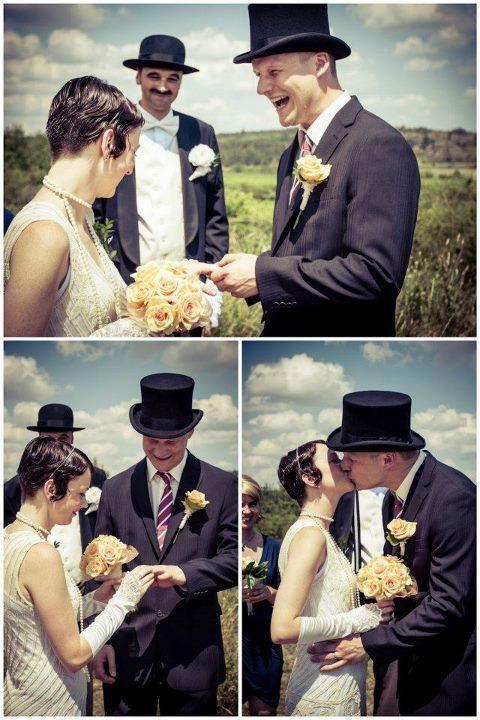 Hochzeit im 30iger Jahre Stil
