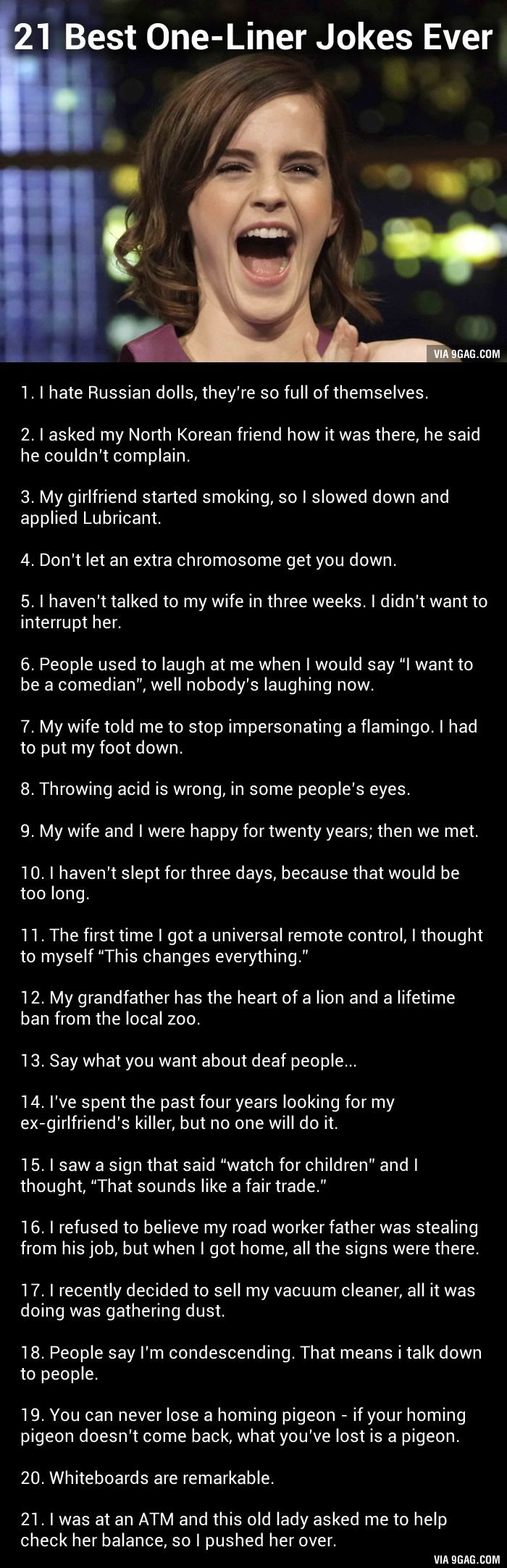 Best OneLiner Jokes Ever St Humor And Random - 21 best one line jokes ever