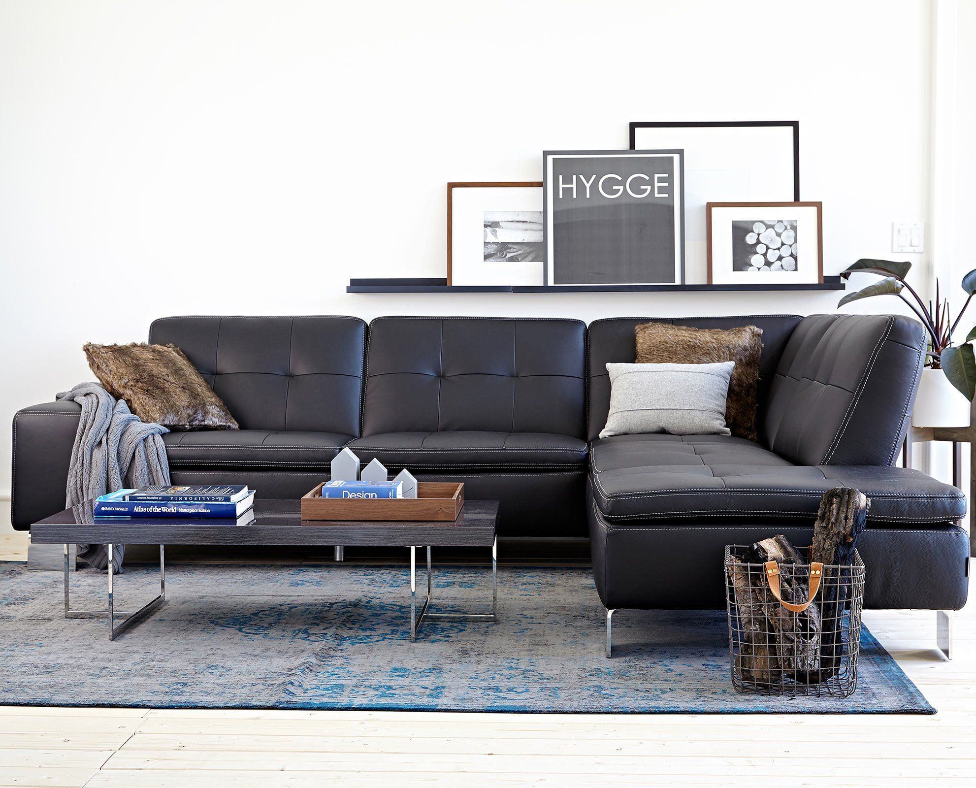 Large scale with room for up to ten people the francesca sectional will meet all of your seating needs the contemporary design with steel legs and tufted