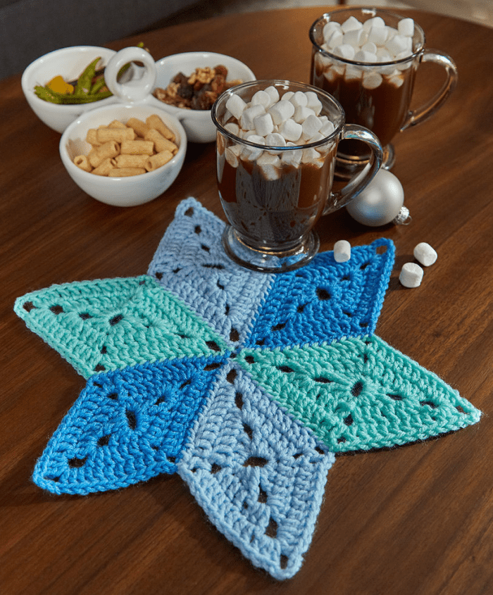 Star table mat coasters crafts with free pattern written star table mat coasters crafts with free pattern written crochet cup holders free ccuart Choice Image